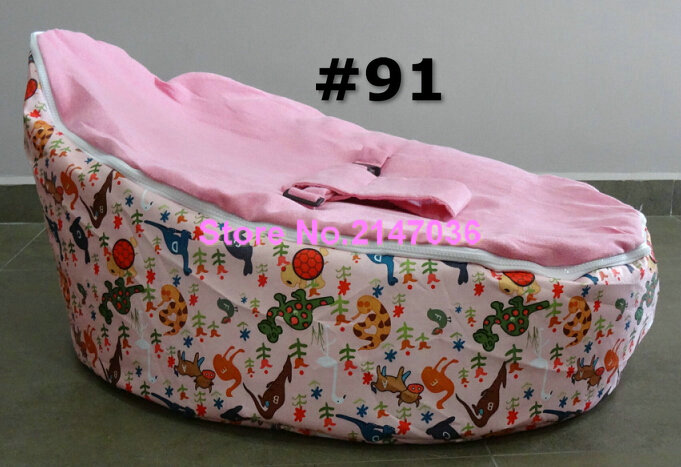 Pink dinosaur printed 2016 bag for baby baby bean bag chair with harness baby bag organizer