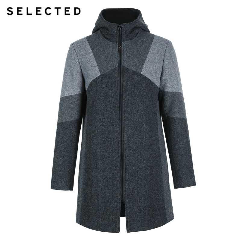 Выбранные мысли мужской содержащих в зимних моделях шерсть длинное пальто с воротником для мальчиков S | 418427563