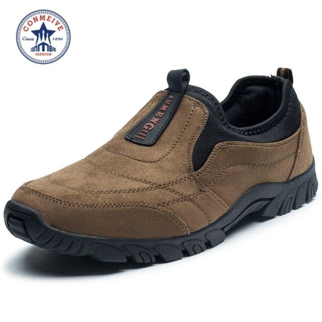 Venta zapatos de senderismo zapatillas slip-on acampar al aire libre 2016 trek hombres del deporte de escalada outventure sapatos masculino medio b, m)