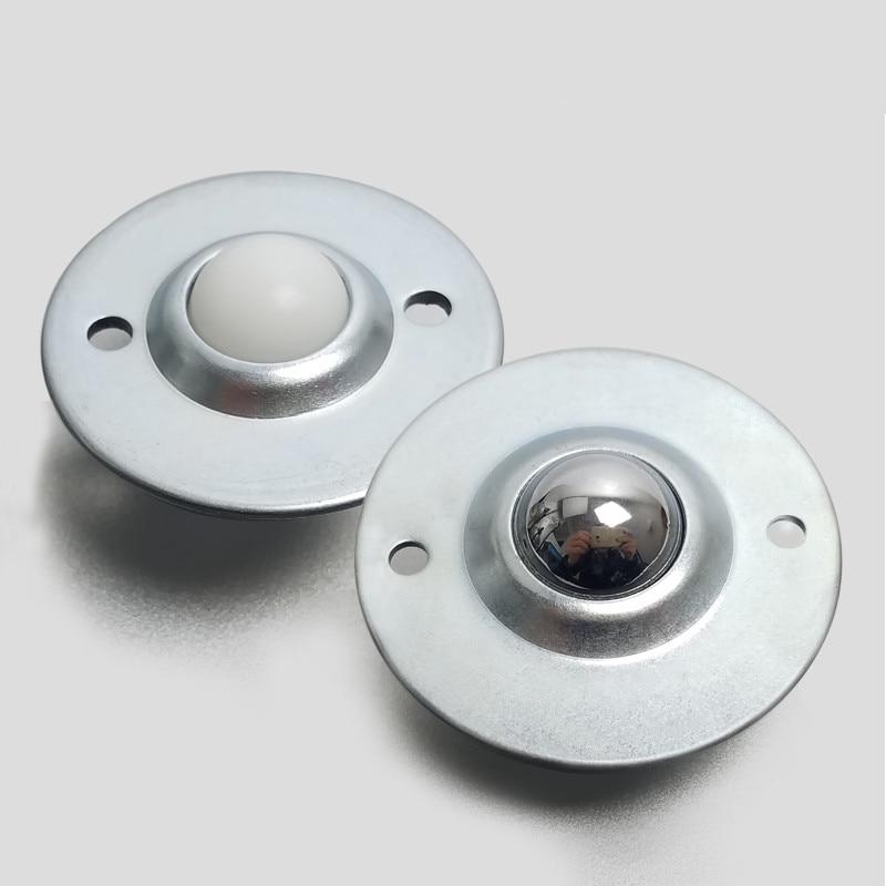 5pcs Dia 8mm Sliver Ball Metal Transfer Bearing Unit Conveyor Roller Wheels FS