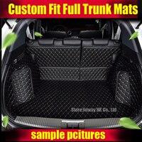 3D Custom fit car trunk mats for Honda Accord Civic CRV HRV Vezel Crosstour Fit car styling heavey duty tray carpet cargo liner