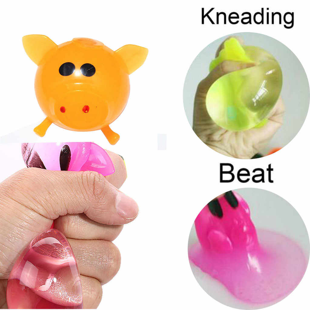 Squishy Jello Pig Cute Anti Stress Splat Water Pig Ball Vent Toy Slow Rising Venting Sticky  Squishi Relieve Squishies Kids Toys