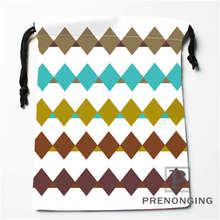 Custom Grey Line Printe Drawstring Bags Printing Fashion Travel Storage Mini Pouch Swim Hiking Toy Bag