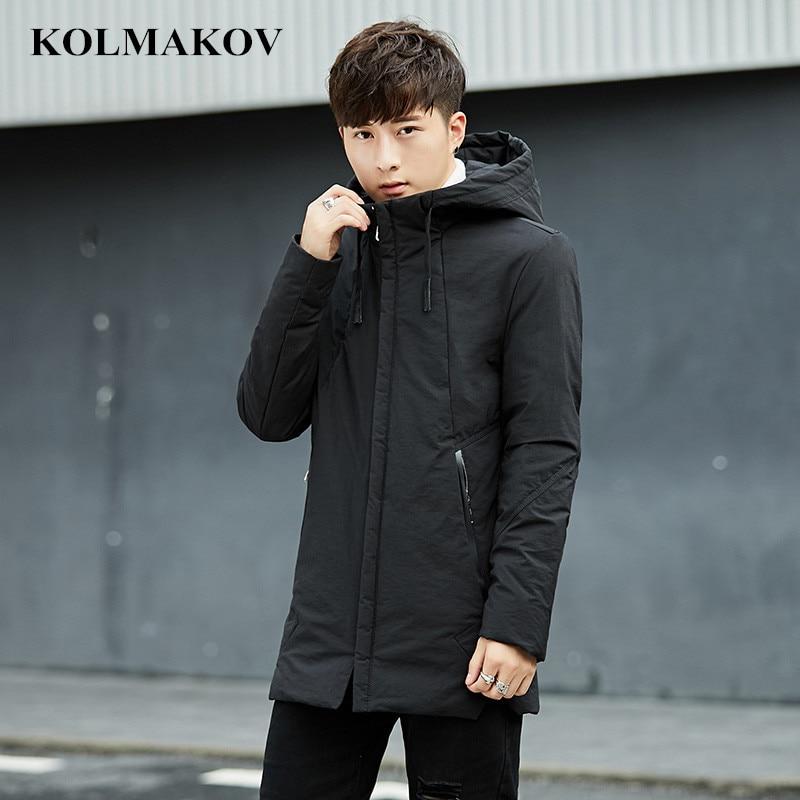 2018 New Men's   down     Coats   Winter Parka Jackets Men Slim fit Thicken Warm Parkas Casual Clothing Mens   Coats   Homme full size L-4XL