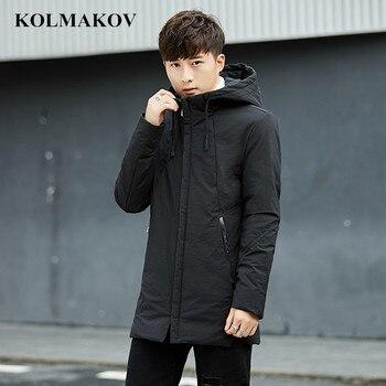 c7c4e7eec 2018 nuevos hombres abajo abrigos de invierno Parka chaquetas hombres Slim  fit espesar caliente Parkas ropa Casual abrigos para hombre Homme tamaño  completo ...
