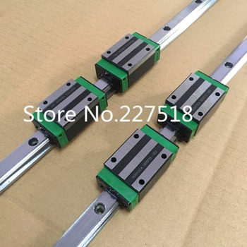 Carril guía lineal HGR30 de 30mm Tipo 2 piezas L1200mm carril + 4 piezas bloque de carro HGH30CA bloques para cnc router