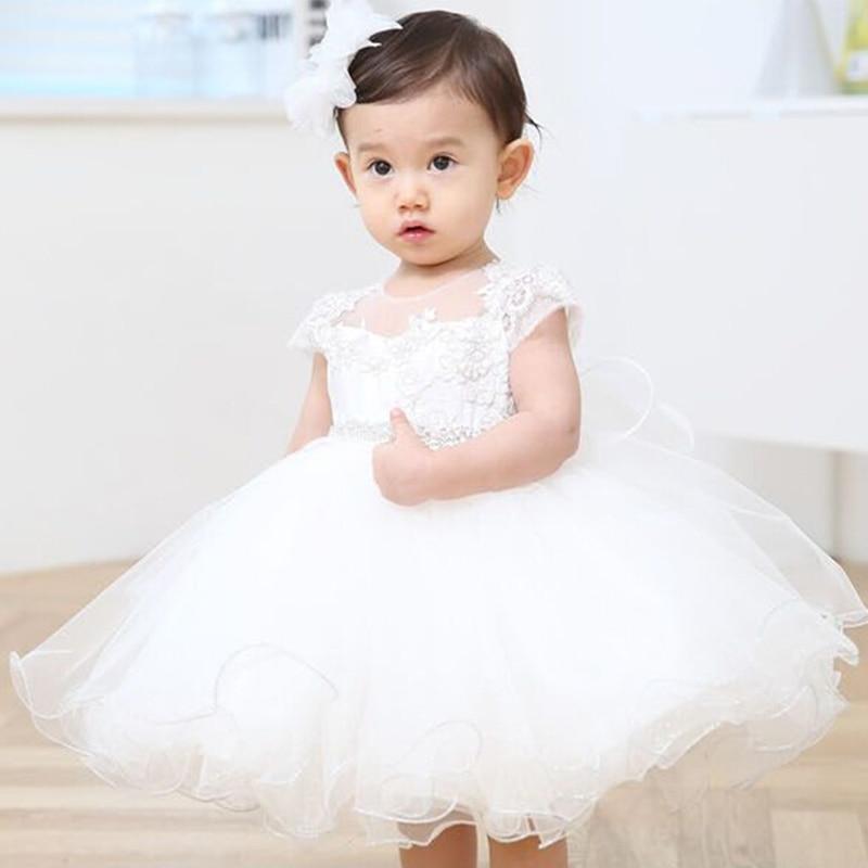 0-24 Months Newborn Baby Girls Princess Dresses Wedding Dress For Girls Ball Gown Dress Infant Toddler Dresses Birthday Party