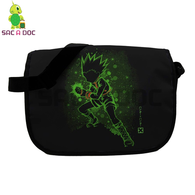 df3d6fc8f5d4 Anime Hunter X Hunter Gon Fluorescence Messenger Bag for Teenage Girls Boys  School Shoulder Bags Women Men Crossbody Handbag