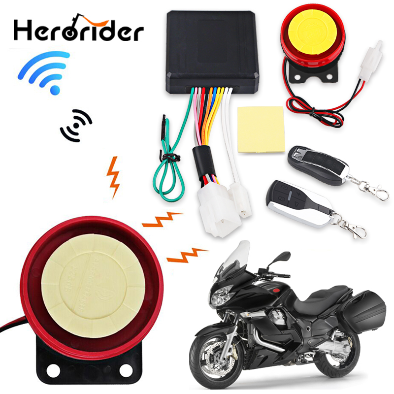 1Set 12V Motorcycle Scooter Anti-theft Security Alarm System Remote Control Start Bike ATV  Motorbike Protection For Suzuki Ect