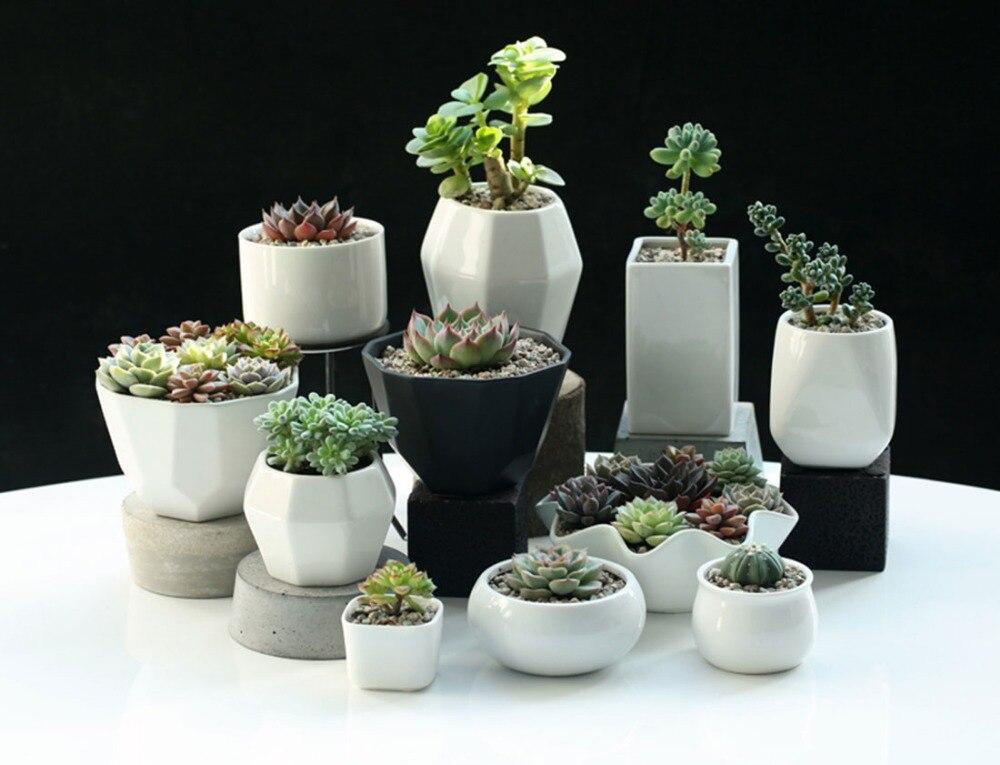 home decoration ceramic flower pots planters desk top pots office bar shop wedding decor gifts white