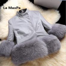 Kinder toddler child baby kid clothes robocar costume roupas fur coat vestido girl outerwear luxury fur jacket Large size 1-30Y
