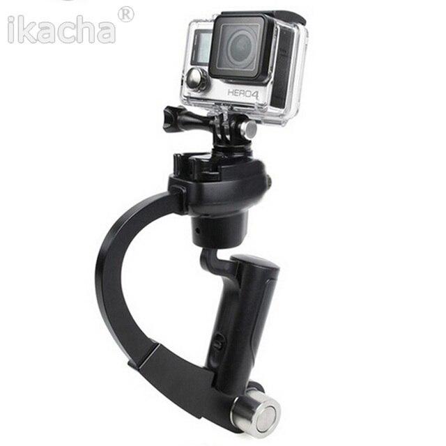 Gopro accesorios mini gopro estabilizador de mano recta para xiaomi yi gopro hero 4/3 plus sj4000 cámara de la acción envío gratis