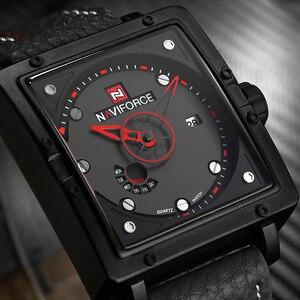 Image 5 - Naviforceメンズクォーツスポーツウォッチファッショントップブランドの革ストラップクリエイティブ防水腕時計男性時計レロジオmasculino