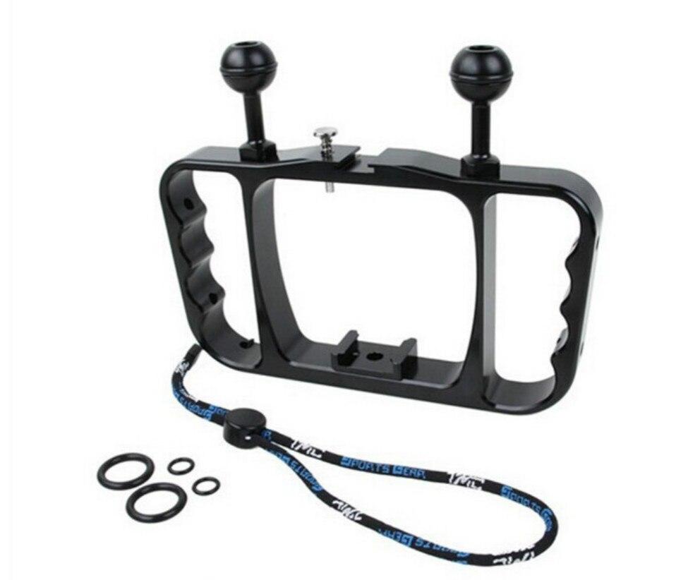 цены  Gopro mount CNC Aluminum Dual Ball Mount Bracket Diving Video Fill Light Grip for Gopro HERO 3 3+ 4 Session sj4000 Action Camera