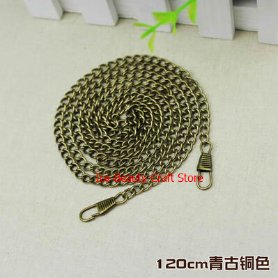 120cm/47 bronze twist O ring bag chain DIY metal purse strap 20pcs freeshipping new bag strap chain wallet handle purse acrylic resin strap chain strap replaced bag strap bag spare parts