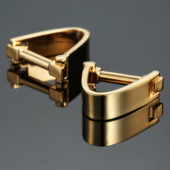 Free delivery, high quality copper material cuff links, new fashionable gold cufflinks, men's wedding gifts.