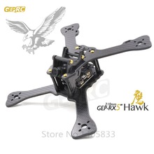 DIY FPV mini drone GEPRC GEP-RX5 Hawk quadcopter 3k carbon fiber 210 frame Stagger Arm Design 4mm main up lower plate