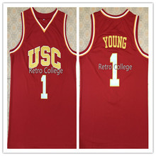 540a0c462b9c  1 Nick Young USC Trojans Retro Mens Basketball Jersey Embroidery Stitched  Customize any name and