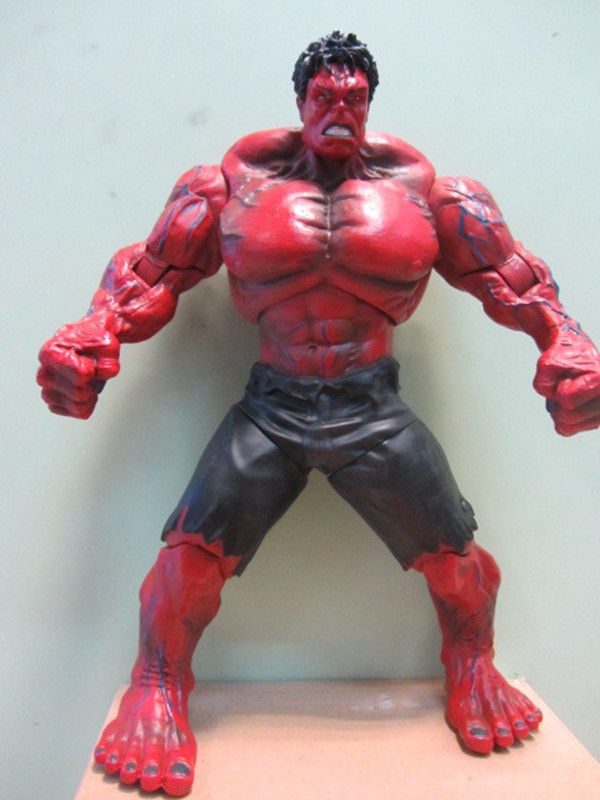 1piece The Avengers Red Hulk PVC Action Figure Toy Hands ...