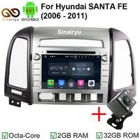 HD 1024*600 Octa Core 2 GB RAM Android 6.0.1 Auto Dvd-speler Radio GPS Navi Stereo Fit HYUNDAI SANTA FE 2006 2007 2008-2012