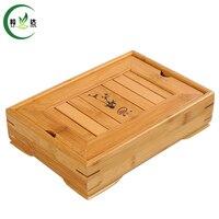 27*18 cm 100% Natuurlijke Bamboe Gong Fu Thee Set Lade Thee Table Dienblad Cha Pan Theepot Trivets