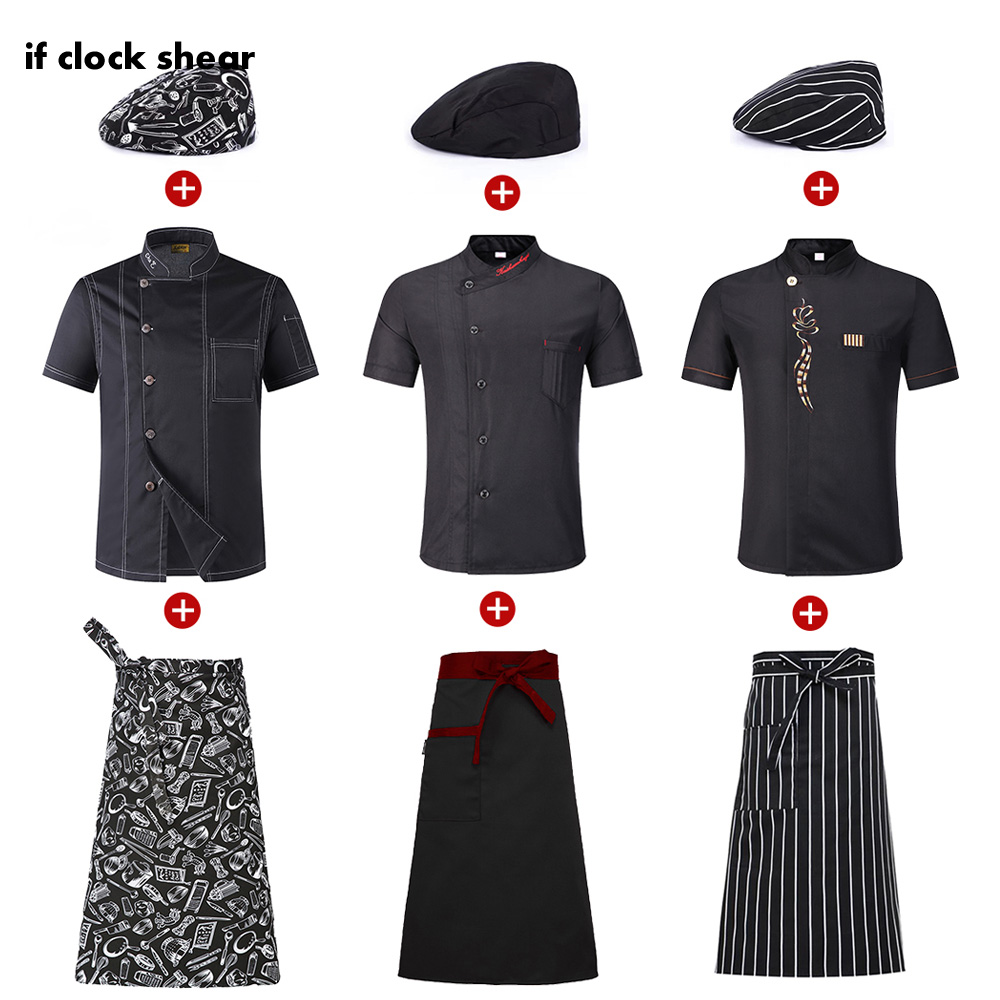 2019 New Arrival Wholesale Unisex Kitchen Chef Restaurant Uniform Shirt Breathable Double Breasted Dress Chef Jacket Chef Works