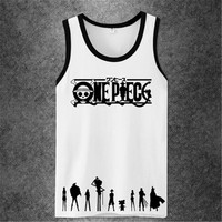 a4d3ebf9381a6 One Piece Anime Workout tank top men women brand fitness bodybuilding  Crossfit Singlets Muscle 3d Printed