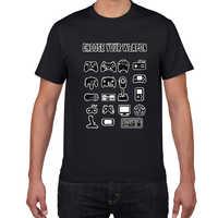 Choose Your Weapon Gamer Novelty Video Games Sarcastic Mens Funny T Shirt game fan Game Controller streetwear men tshirt men