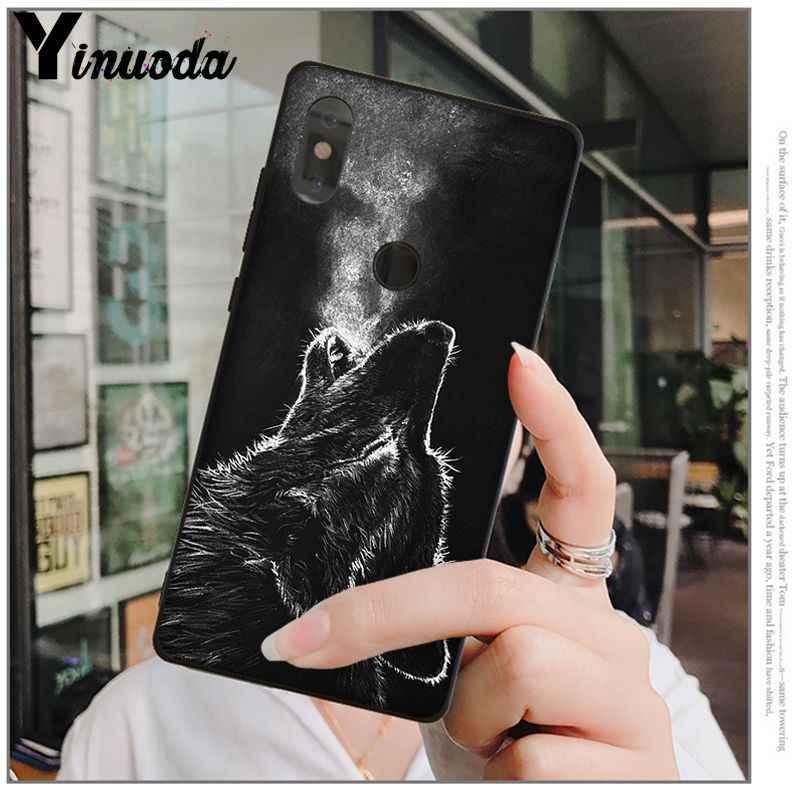 Yinuoda 怒っスノーウルフ新着ブラック携帯電話シャオ mi mi 6 8 8 SE 注 3 mi 注 3 mi × 2 2 s 解像度 mi 5 Coque シェル
