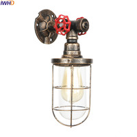 IWHD LED Loft Style Wall Lamp Retro Industrial Iron Water Pipe Wandlamp RH Fixtures Bedroom Lamp Applique Murale Luminaire