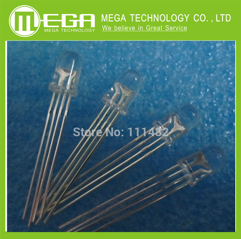 5mm RGB LED Common Cathode Tri-Color Emitting Diodes f5 RGB Diffused(China)
