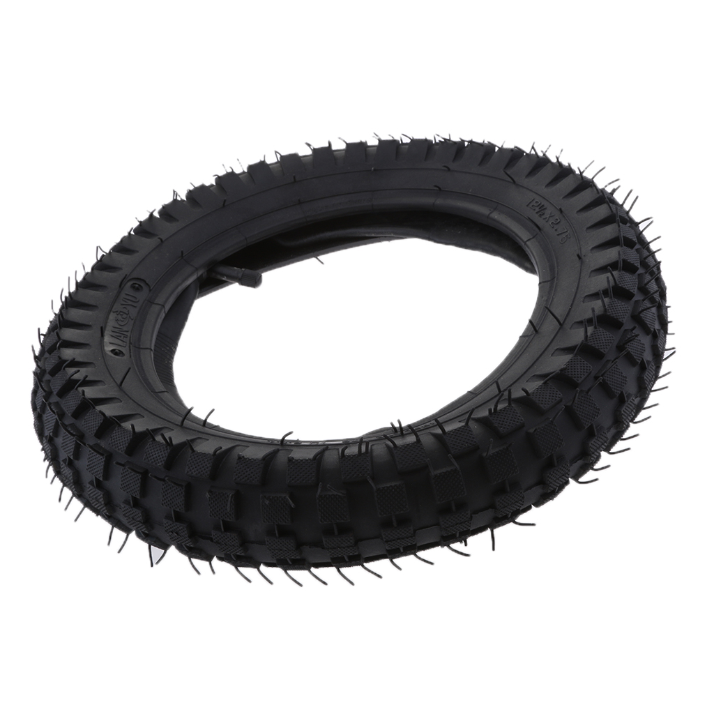 1 Piece 12.5x2.75 Rubber Tire & Inner Tube Set Inflatable Electric Scooter Tyre Razor MX350 / MX400 Dirt Bike Rocket Black
