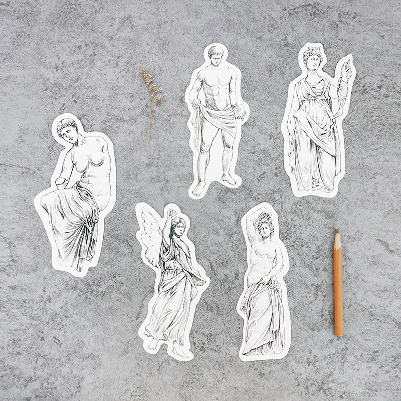 30pcs go back to Roman Empire sculpture style card multi-use as Scrapbooking party invitation DIY Decor gift card postcard