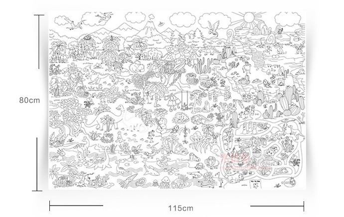 115 80 cm kids child super painter baby huge drawing paper giant coloring poster toys boys girls birthday gift free shipping