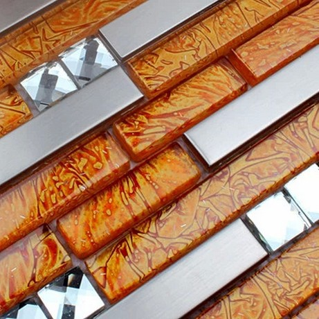 Kitchen Backsplash Orange popular orange mosaic tiles-buy cheap orange mosaic tiles lots