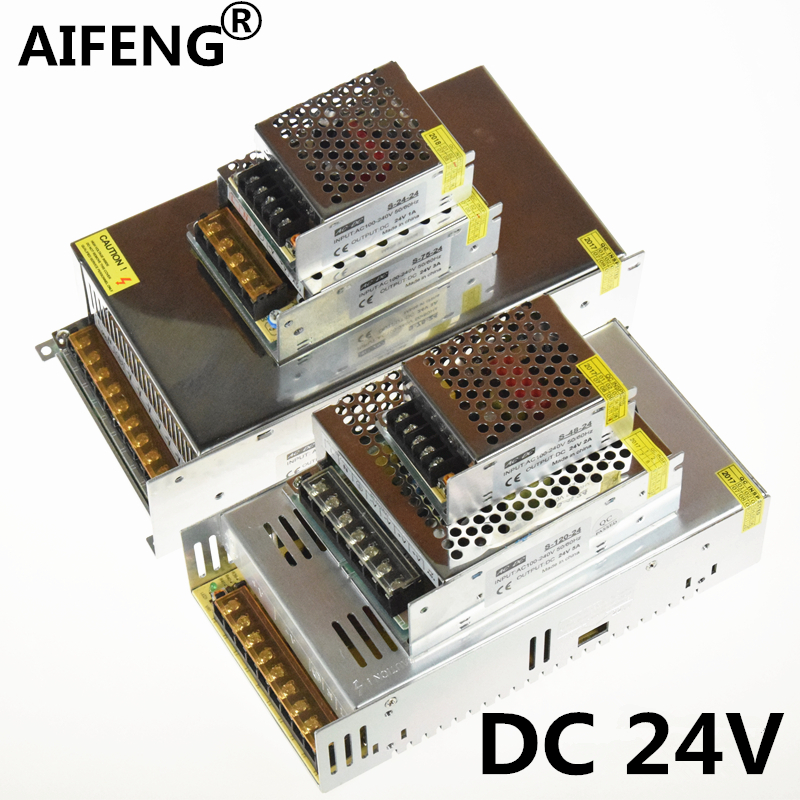 AIFENG DC 24V Lighting Transformers 110V 220V to 24V 1A 2A 3A 5A 15A 25A 24v power supply For LED Strip Power Adapter aifeng dc 24v switching power supply 1a 2a 3a 5a 15a 25a power supply switching power ac 110v 220v to dc 24v for led strip light