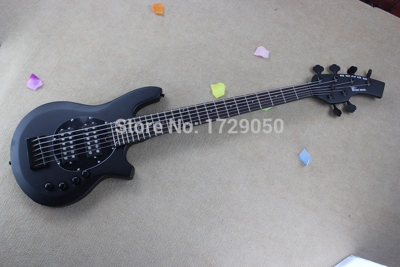 Free Shipping New Arrival Top Qulity Music Man Bongo Metal black 6 Strings Active Pickups Bass Guitar Musicman Bass Guitar 2017 forestwind new arrival hot selling junior standard style pickups electric guitar 2 pic free shipping