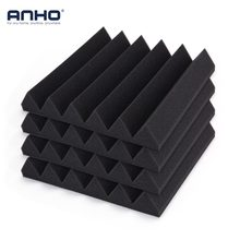 ANHO 12PCS 300x300x50mm Acoustic Soundproofing Foam Sound Stop Absorption Foam for KTV Audio Room Studio Room Bedroom Black(China)