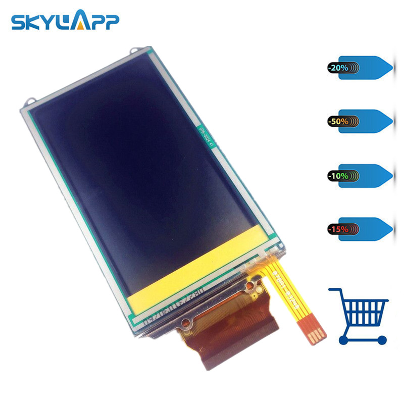 Skylarpu 3 inch LCD screen for GARMIN APPROACH G5 GPS LCD display Screen with Touch screen digitizer Free shipping cms 333 black blue