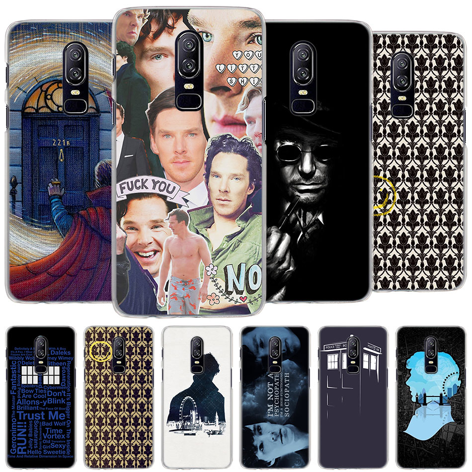 Sherlock Tardis Doctor Who Case Cover For Oneplus 5t 6t 6 Hard Pc Protector Phone Case For Oneplus 6 6t 5t Case Coque To Clear Out Annoyance And Quench Thirst Half-wrapped Case Phone Bags & Cases