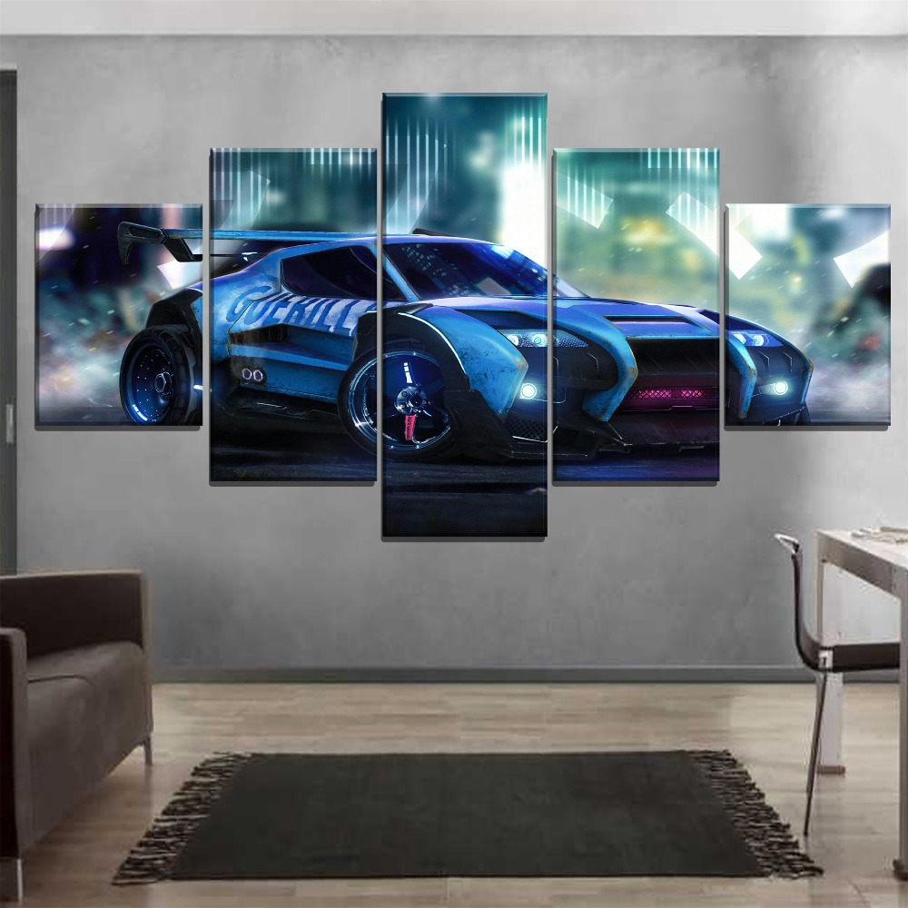 One-Set-Framework-Or-Unframed-3-Piece-Rocket-League-Cool-Game-Car-Picture-Living-Room-Home (3)
