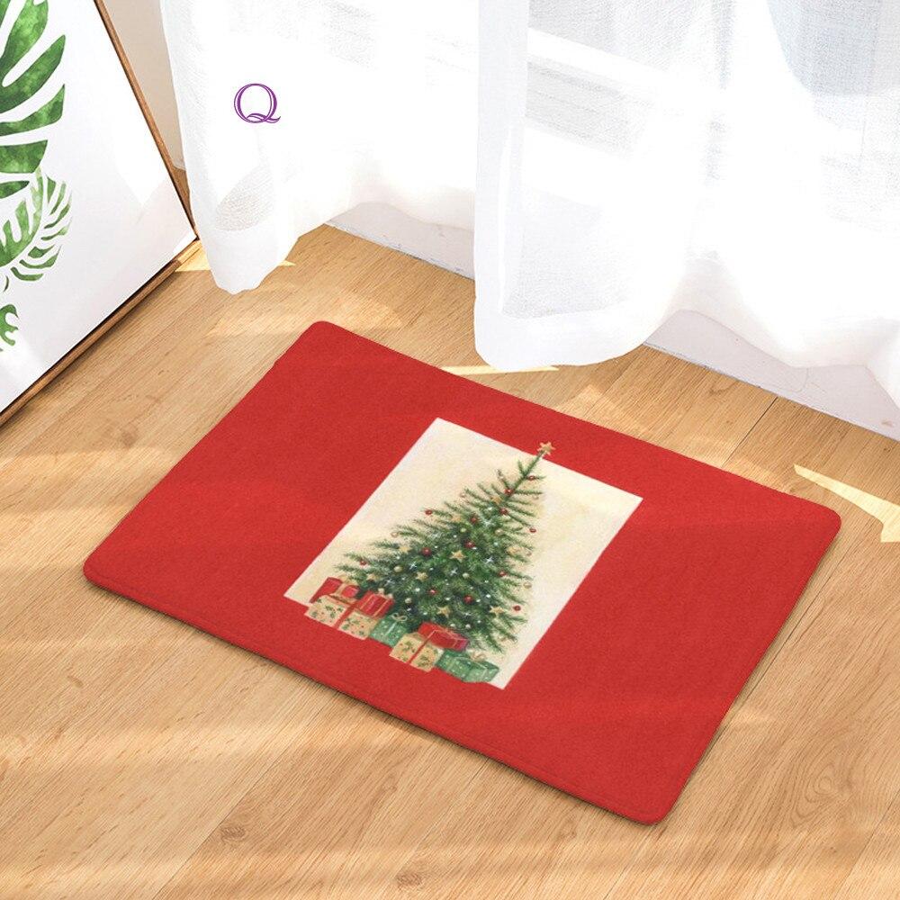 Christmas Home Non Slip Door Floor Mats Hall Rugs Kitchen Bathroom Carpet Decor
