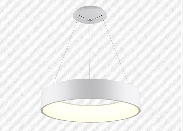 High quality LED 50W 80CM ring hight 12cm Pendant Light Modern Design LED Ring Special for office Showroom LivingRoom in Pendant Lights from Lights Lighting