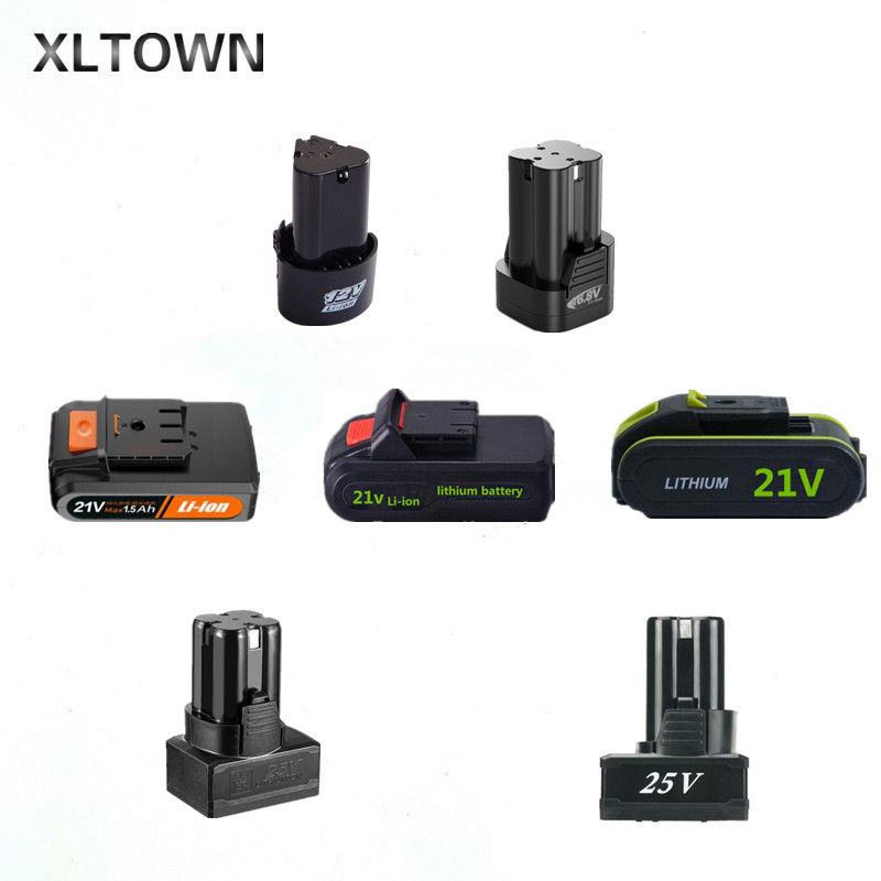 Xltown12/16.8/ 21/25/36v mini electric drill  rechargeable lithium battery electric screwdriver power tools lithium battery|Power Tool Accessories|Tools - title=