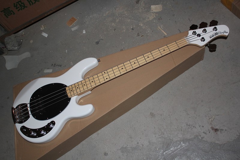 Free Shipping Hot Selling High Quality White Music Man StingRay 4 Strings Electric Bass in stock  140401Free Shipping Hot Selling High Quality White Music Man StingRay 4 Strings Electric Bass in stock  140401