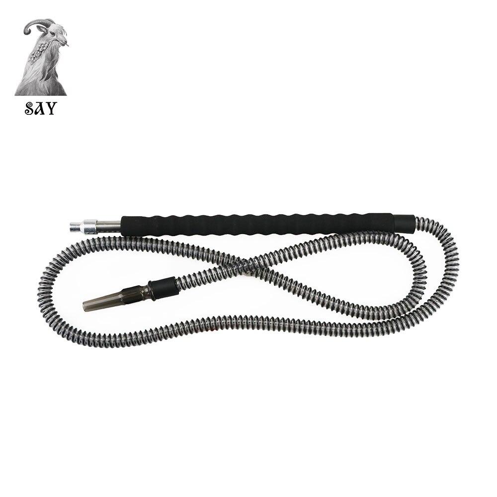 SY 1 PC Shisha Hookah manguera Nargile tubo Chicha Narguile fumar accesorios mango largo Ues esponja envuelto negro