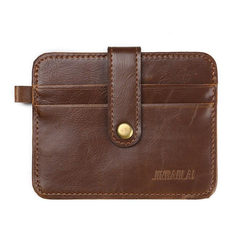 JINBAOLAI Slim Leather Men Card holder Minimalist Card Wallet Male Purse Brand Vintage porte carte for Money BID070 PM49