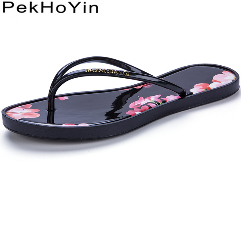 Trend Women Slippers Shoes Black Fashion Female Sandals Shoes Summer Water Shoes Women Flip Flops Mujer Sildes Outside Beach