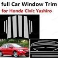 Горячая продажа Нержавеющая сталь для Honda Civic Yashiro с колонной полное украшение оконной рамы автомобиля отделка