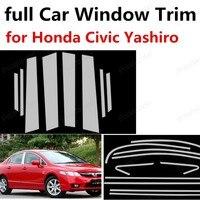 Горячая продажа нержавеющей стали для Honda Civic Yashiro с колонной полное украшение оконной рамы автомобиля отделка